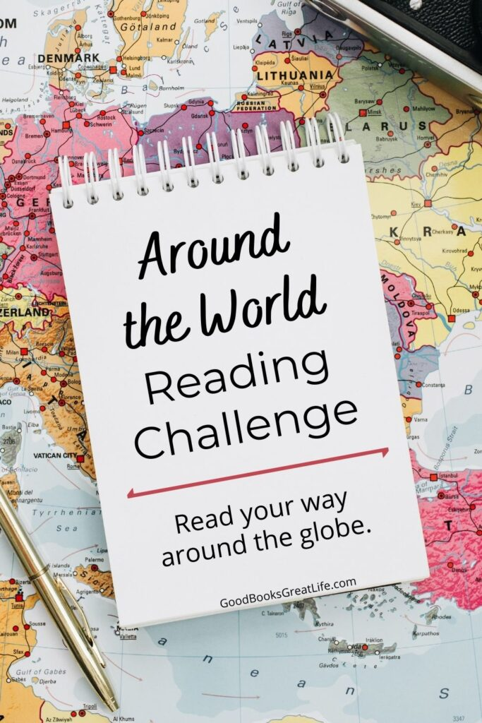Around the World Reading Challenge map image